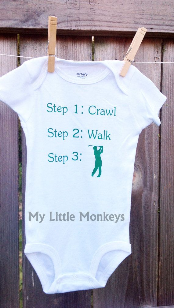 21 best golf party images on pinterest golf party birthday items similar to personalized baby shirt bodysuit custom personalized baby gift golf on etsy negle Choice Image