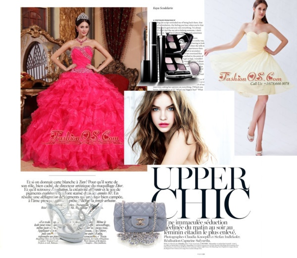 """""""Perfect Coral Red Quinceanera Dress Sweetheart Organza Beading Ball Gown"""" by quinceaneradress on Polyvore"""