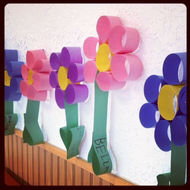 Craft Flowers For Kids Part - 26: Preschool Flower: Use Toilet Roll Tubes