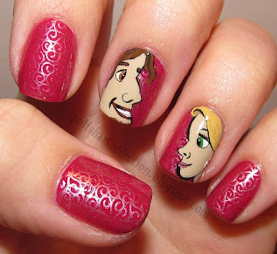Moana Disney Nails Designs: 15 Of The Coolest 'Tangled' Manicures You'll Ever See