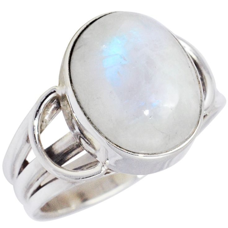 Rainbow Moonstone 925 Sterling Silver Ring Allison Co Size-6.75 SR-25412 #Allisonsilverco #RainbowMoonstone
