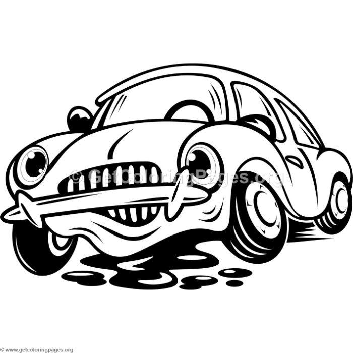 Free Download Cute Cartoon Broken Car Coloring Pages Coloring