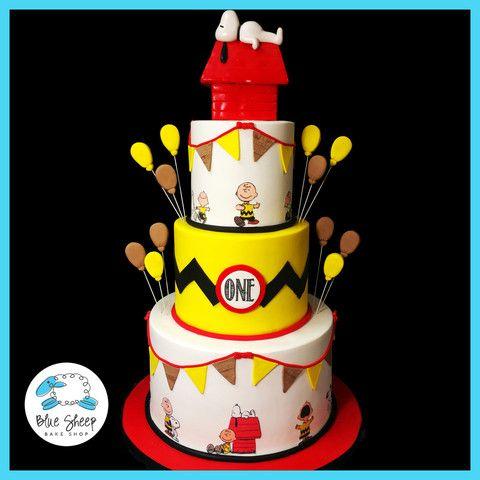 charlie brown and snoopy 1st birthday cake NJ