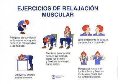 salud laboral -Ejercicios de relajación muscular