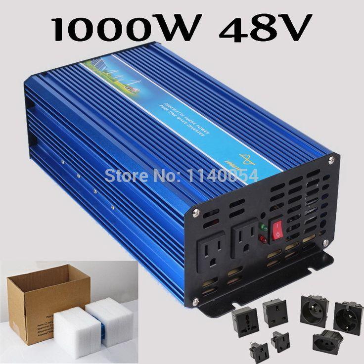 1000W Off Grid Inverter 48V DC to AC 100/110/120VAC or 220/230/240V Pure Sine Wave Output Solar Wind Inverter 1000W 48V