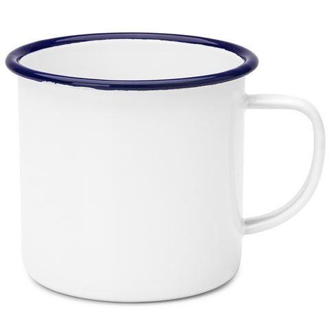 Falcon - White & Blue Enamel Mug Product Number: 467113 RRP:$5.00 Peter's Price: $3.50