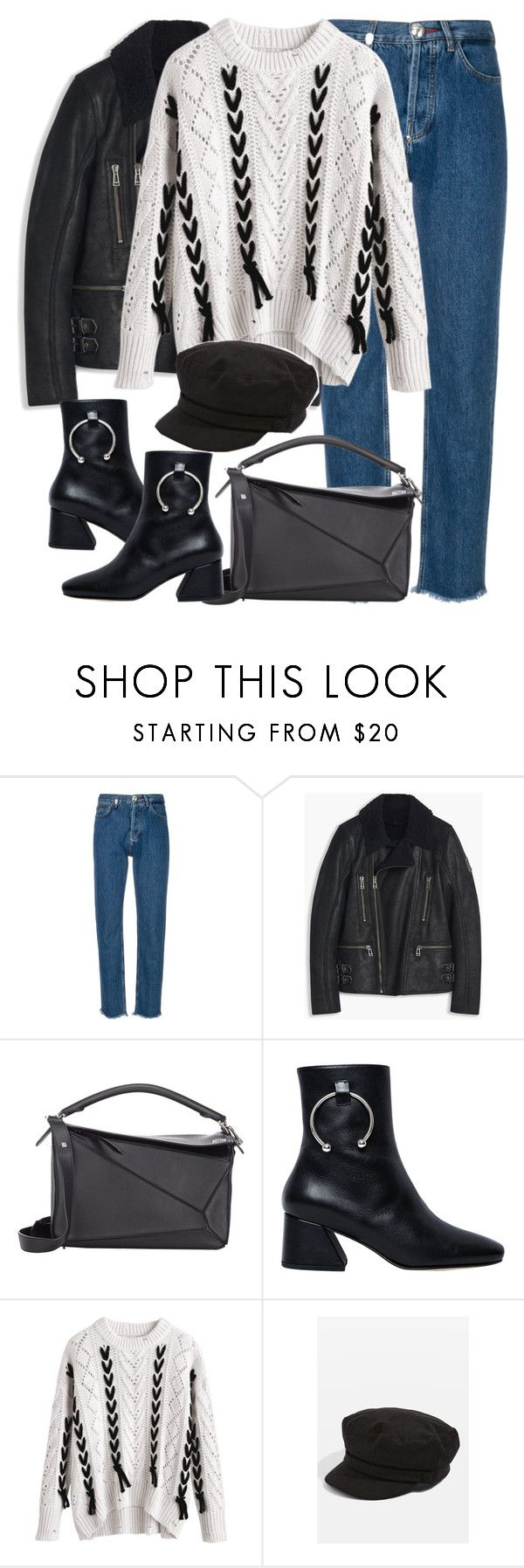 """""""Untitled #3265"""" by elenaday on Polyvore featuring Philipp Plein, Loewe, Dorateymur and Topshop"""