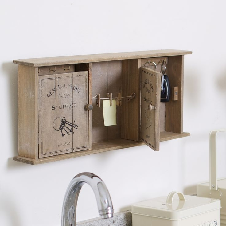 Keys and Things Wall Tidy #gifts #organiser #wood #keys #kitchen