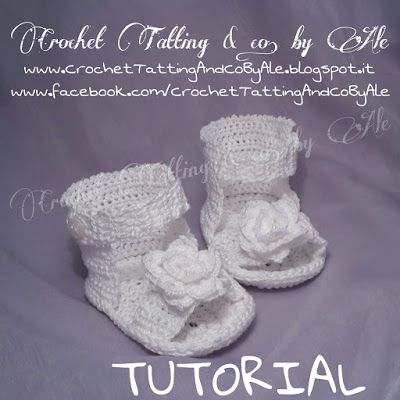Crochet Tatting & co. by Ale: Istruzioni Sandali a uncinetto per neonata