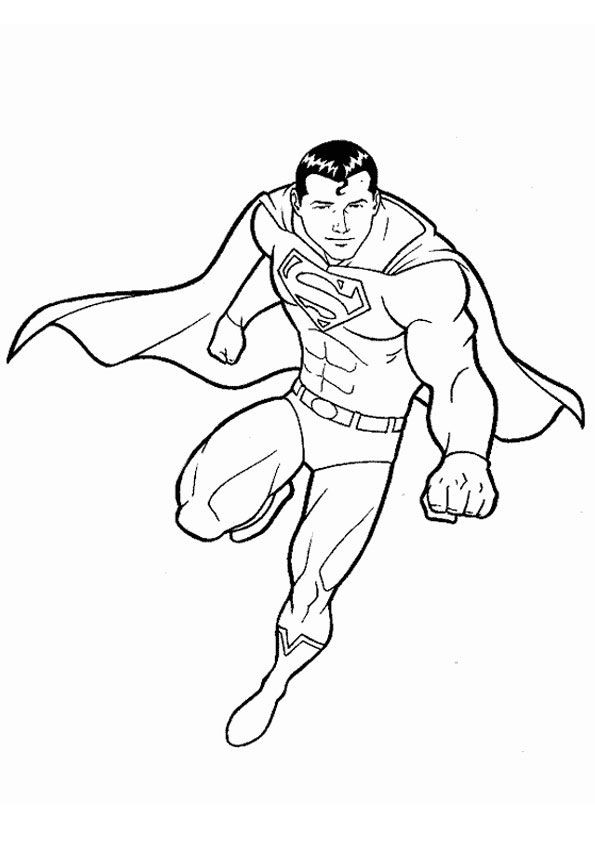 Superman Frais Superman Coloring Page Superman Coloring Pages Coloring Pages Fall Coloring Pages