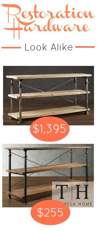 The Restoration Hardware Bakers Rack if perfect for extra storage, but the price is crazy. Here's a great Restoration Hardware Look Alike for $1200 less!