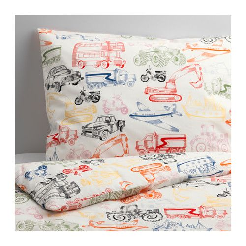 IKEA - LJUDLIG, Duvet cover and pillowcase(s), , Cotton is soft and feels nice against your child's skin.