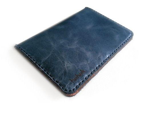 Porta Pasaporte para pasaportes, tarjetas, papeles y billetes (Color afuera: Azul Piedra)