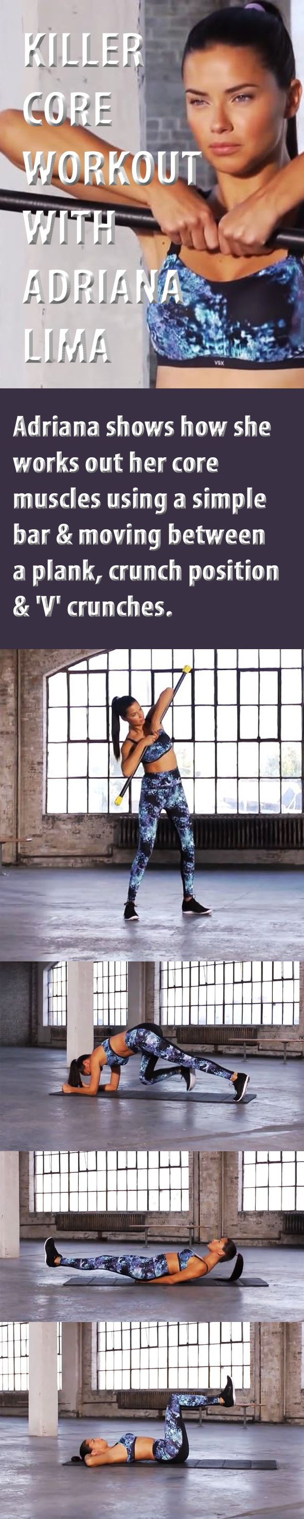 Killer core workout with Adriana Lima.