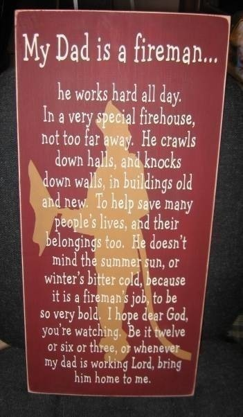 Firefighter poem. Might have to do this in pink for my little girl. ashleymills