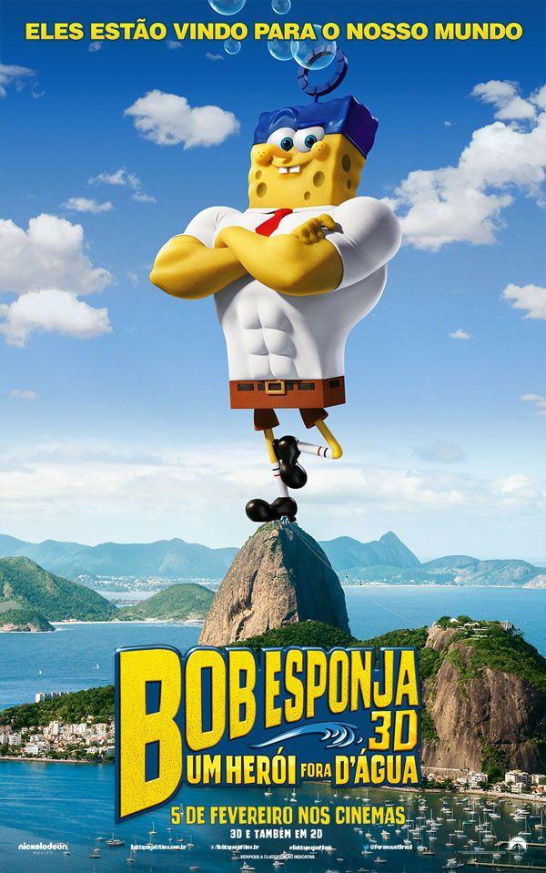 """""""Bob Esponja: Um Herói Fora Dágua"""" (The SpongeBob Movie: Sponge Out of Water - 2015)"""