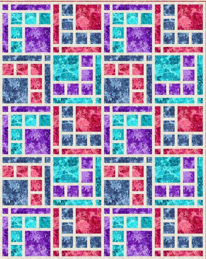 Modern quilt pattern that comes in 5 sizes! Boardwalk