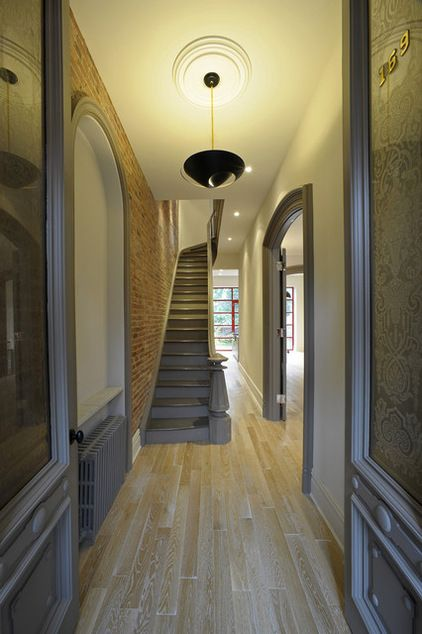 FOYER – great example of an impressive way to welcome guests. Contemporary entry by valerie pasquiou interiors and design, inc.