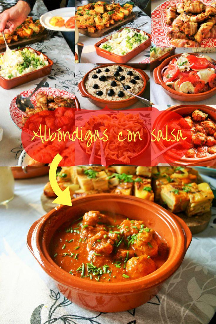 """Albóndigas con salsa. Spaanse heerlijk gekruide gehaktballetjes in een pittige tomatensaus. Afgeblust met rode wijn - Tapasfeestje - Mels Feestje"""""""