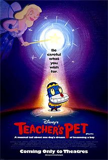 """2/01/2014  7:55pm Disney's  ''Teacher's Pet'' Forget SpongeBob: Nathan Lane is Spot, a dog who goes to school disguised as a human named Scott, to the chagrin of his young master Leonard. One day, Spot hears about a species-change operator (""""The Beast from X-Men 3"""") operating in Florida. Road tripilarity ensues. Still to come: Farked-up science.  Released:  1/16/2004 Based on TV Series   2000-2003  en.wikipedia.org"""