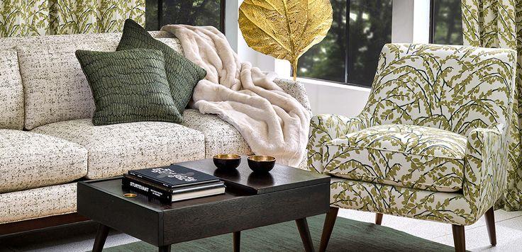 Green and enchanting fabrics from Robert Allen Design