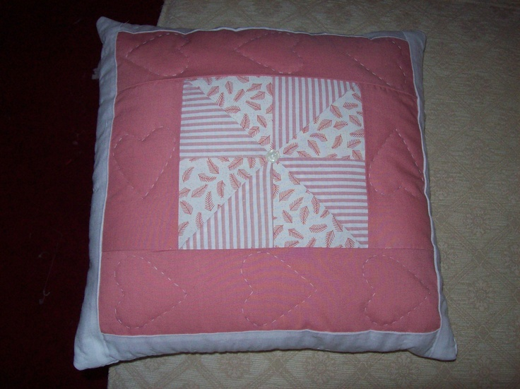 Cushion to match the quilt.  Please take a look at the items I sell @ www.lemayed-for-you.webs.com, thanks.
