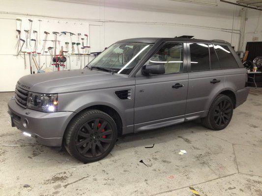 Dark Grey Vinyl Wrap Range Rover Sport - Dream Car!