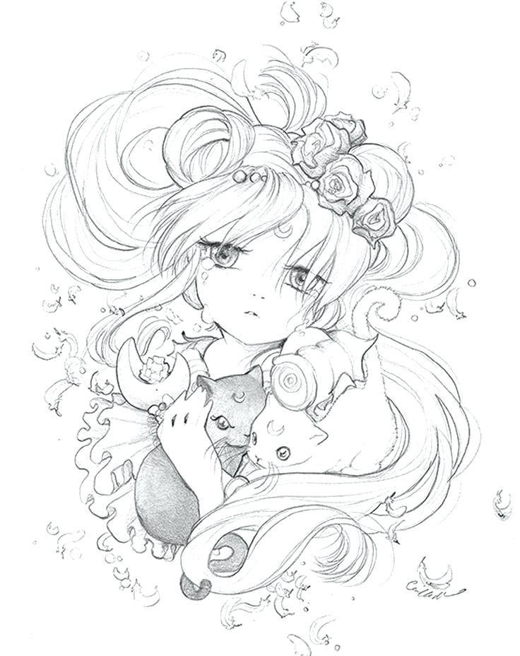 Camilla D Errico Pop Manga Coloring Book Also Pop Manga Coloring