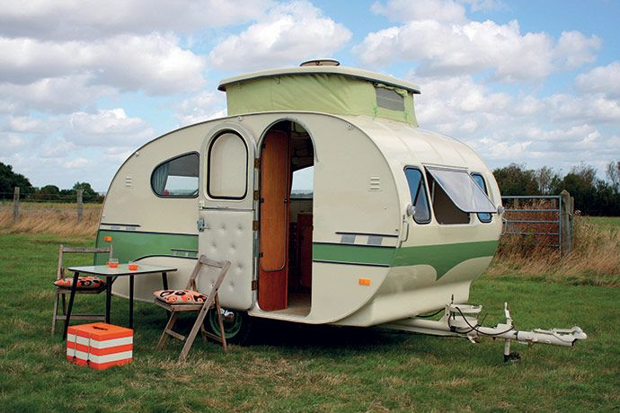 retro as it gets.  cute little camper.  love the way they are making such a comeback.