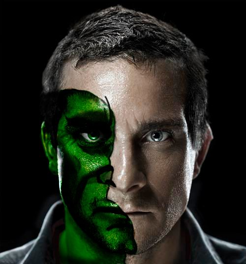 I have created this picture of Bear Grylls.
