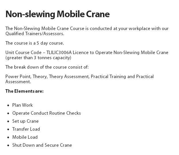 Non-slewing Mobile Crane