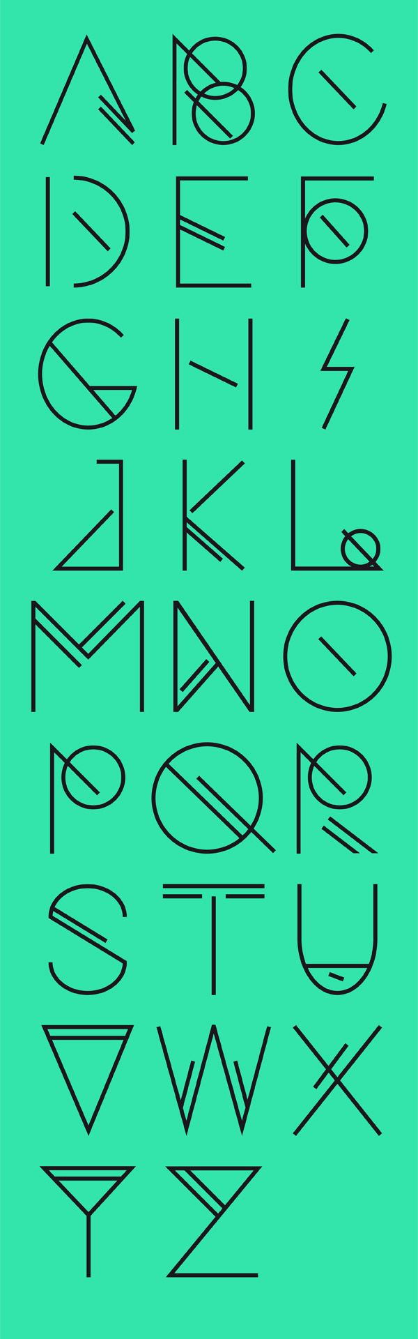Foresee - Free Font - Art Deco yet Eighties all in one!
