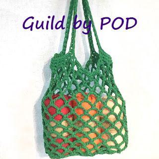 TシャツヤーンSmooTeeで編むネットバッグの編み図 Guild by POD &毛糸ズキ!
