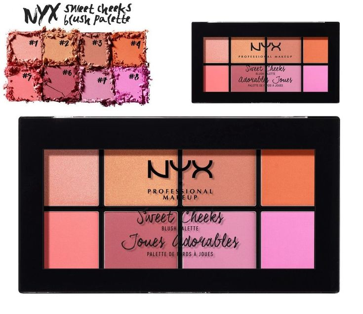 NYX SWEET CHEEKS BLUSH PALETTE. 8 PIGMENTED SHADES EASY TO BLEND. | eBay!