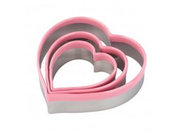 cookie cutter set - 3 HEART CUTTERS STAINLESS | Trade Me