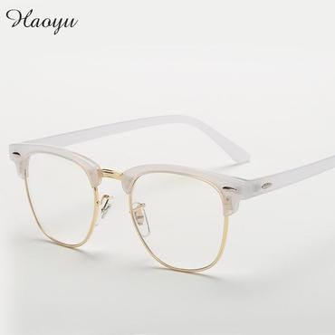 ab9a5bdaa0 haoyu Men Women Myopia Eyeglasses Japan Vintage Eye half Glasses Frame  Fashion Optical Frame Plain Mirror lens Armacao De Oculos