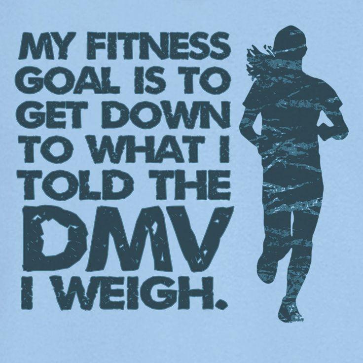 My Fitness Goal Funny Novelty T Shirt Z12570. $18.99, via Etsy. size med