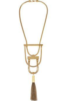 Saint Laurent Opium gold-tone tassel necklace