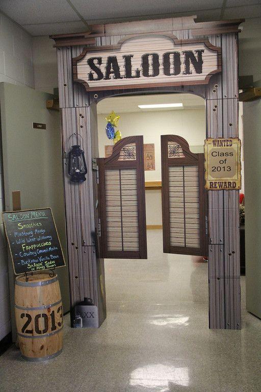 "Faculty lounge door decor idea for ""Best in the West"" Teacher Appreciation Week"