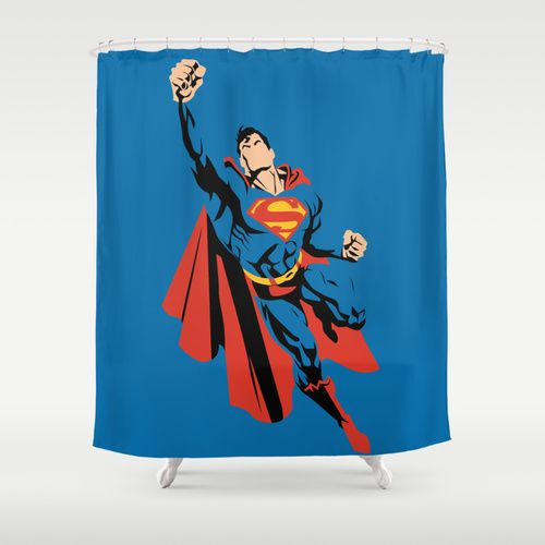 Dc Superman Shower Curtain Products Showers And Curtains