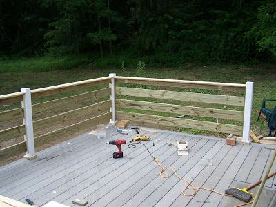 Horizontal Deck Railing Designs | Rounding The Bend, One Last Section To Go!