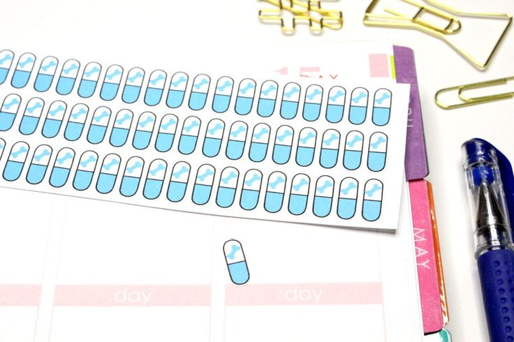 72 Blue Pill Stickers with dog bone! Perfect for your Erin Condren Life Planner, Filofax, Plum Paper or scrapbooking! #SQ00364 by KarolinasKrafts on Etsy https://www.etsy.com/listing/205008293/72-blue-pill-stickers-with-dog-bone