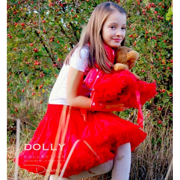 so happy wearing DOLLY skirt Little red riding hood