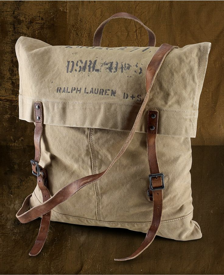 Bag out of reclaimed materials.   Even the BIG shops are doin' it. :)   Denim & Supply Ralph Lauren Bag