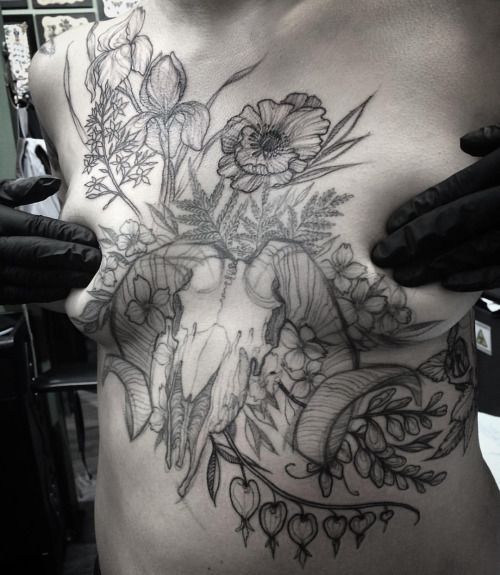 Day-ruiner for this tough person! Work in progress, middle healed and shoulder/ribs fresh  (at Gastown Tattoo Parlour)