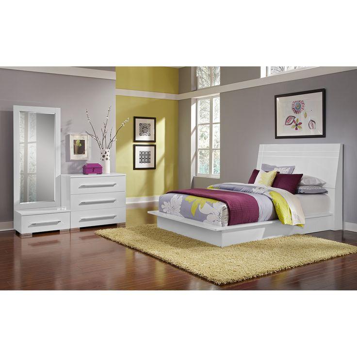 dimora bedroom set%0A Dimora White II   Pc  Queen Bedroom  Alternate    Value City Furniture