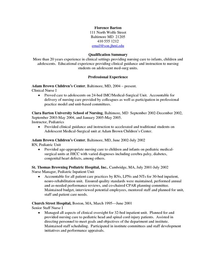 Best 25+ Nursing Resume Ideas On Pinterest Registered Nurse   Telemetry Rn  Resume  Nursing Resume