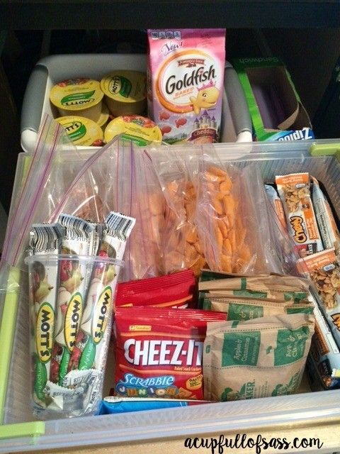 DIY Snack drawer for kids. Perfect for back to School.