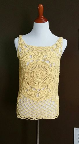 Mandi tank top crochet pattern