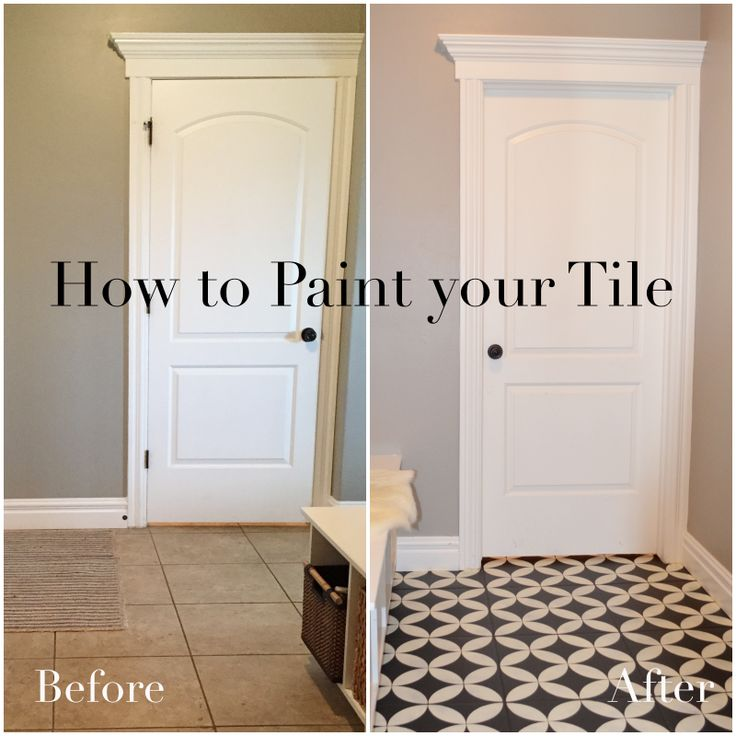 Paint A Tile Floor This Post Shows How To Prepare And Stencil Paint